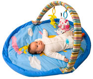 Baby play with clipping path Royalty Free Stock Photography
