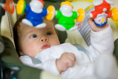 Baby are play the game Royalty Free Stock Photo