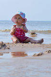 Baby play in sand Royalty Free Stock Photography
