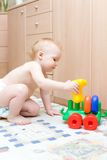 Baby play with toys Stock Image