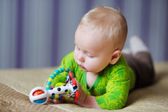 Baby play with toys Royalty Free Stock Photos