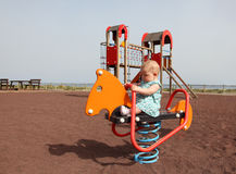 Baby on playground Royalty Free Stock Photography