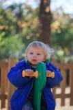 Baby on playground Stock Image