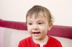 Baby in playground Stock Photo