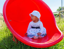 Baby in a Playground Royalty Free Stock Images