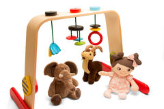 Baby playground - Playing Bridge and soft toys Royalty Free Stock Photography