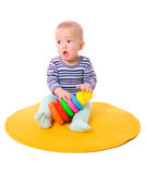 Baby playing Royalty Free Stock Photo