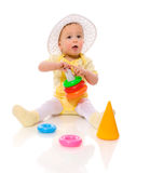 Baby playing Royalty Free Stock Image