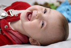 Free Baby Playing And Smiling Royalty Free Stock Image - 6825376
