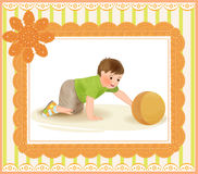 Baby playing with ball Stock Images