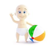 Baby playing with beach Ball Royalty Free Stock Images