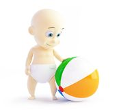 Baby playing with beach Ball Royalty Free Stock Photos