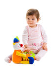 Baby playing cutout Royalty Free Stock Photo