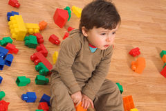 Baby playing in empty room Stock Photography