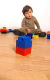 Baby playing in empty room Royalty Free Stock Photography