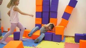 Children`s indoor games. stock footage