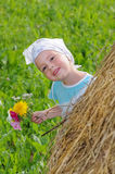 Baby playing hide and seek Royalty Free Stock Images