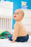 Baby playing at home Royalty Free Stock Photo
