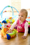 Baby playing at home Royalty Free Stock Image