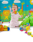 Baby playing isolated Stock Photography