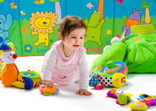Baby playing isolated Royalty Free Stock Photos