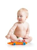 Baby playing  with musical toy Royalty Free Stock Image