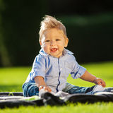 baby in the garden Stock Image