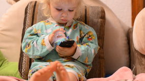 Baby Playing with a Phone stock video footage