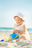 Baby playing at the sea Royalty Free Stock Photography