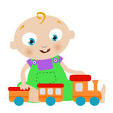 Baby playing toy. Baby playing with toys vector Royalty Free Stock Photography
