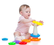 baby playing toy Royalty Free Stock Photography