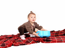 Baby playing with toy's. Royalty Free Stock Photos