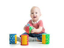 Baby playing toys Stock Photography
