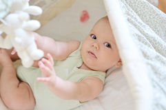 Baby playing toys Stock Photo