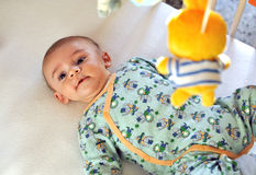 Baby playing Royalty Free Stock Photography