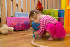 Baby playing with toys Royalty Free Stock Photos