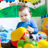 Baby playing with toys Royalty Free Stock Photography