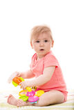 Baby playing with toys Royalty Free Stock Image