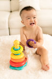 Baby playing toys Royalty Free Stock Photography