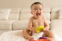 Baby playing toys Royalty Free Stock Images