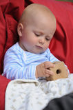 Baby Playing With Wooden Toy Royalty Free Stock Image
