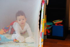 Baby playpen Stock Photo