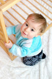 Baby at the Playpen Stock Images