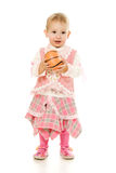 Baby plays ball Stock Images
