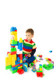 Baby plays with blocks Royalty Free Stock Image