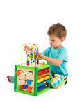 Baby plays with toys Royalty Free Stock Photography