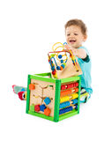 Baby playswith toys Stock Photo