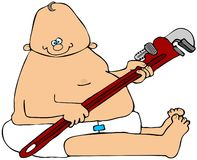 Baby Plumber Royalty Free Stock Photos