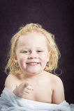 Baby pointing Royalty Free Stock Photos