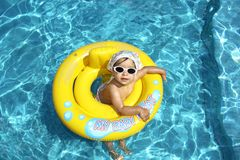 Baby in pool Royalty Free Stock Photography